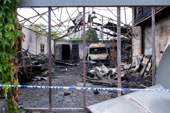 De loods waar de Pallieterfeesten normaal plaatsvinden is door een brand onbruikbaar.