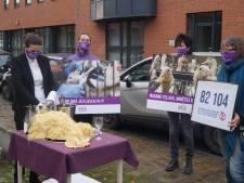 """""""Combien de kilos de pâtes la Ministre devrait-elle manger quotidiennement pour arriver à un foie gras?"""": l'action choc de Gaia"""