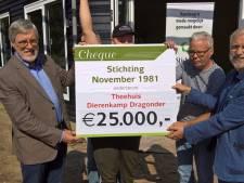 Flinke cheque voor theehuis in Dragonderpark Veenendaal