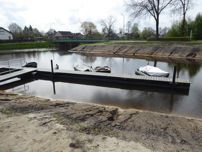 Het haventje in Esch is klaar voor de opening op 5 mei.