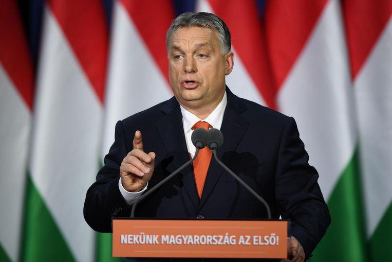 Viktor Orbán Beeld afp