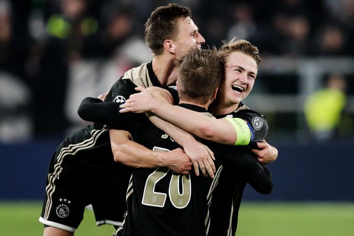 Ajax bereikte gisteren de halve finale van de Champions League.