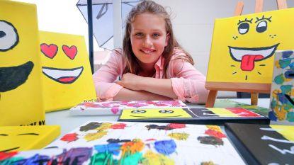 Elize (12) schildert voor kankeronderzoek