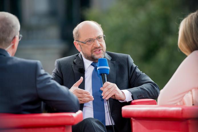 Martin Schulz tijdens het interview.