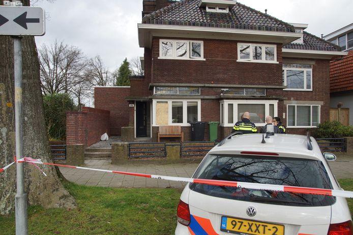De woning aan de Burgemeester van der Klokkenlaan werd in februari beschoten.