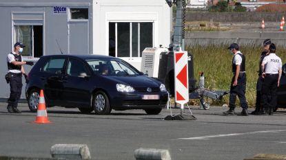 Grenscontroles aan Franse grens, wie geen geldige reden heeft om binnen te rijden, moet terugkeren