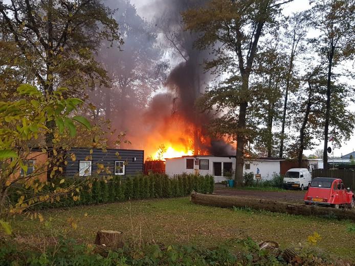 Bij de brand is veel rookontwikkeling ontstaan.