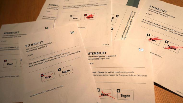 Een deel van de uitgebrachte stemmen op Schiermonnikoog Beeld Anp