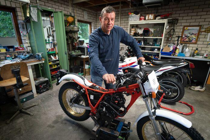 Ooit wil afasiepatient Eduard van Loon weer op zijn trialmotor rijden.