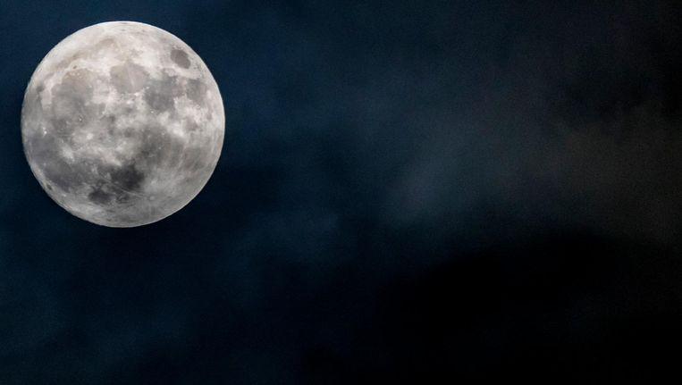 Blauwe maan is maar een naam, want hij heeft gewoon zijn normale kleur. Beeld anp