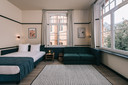 Een kamer van Getaway die studenten per nacht kunnen huren.