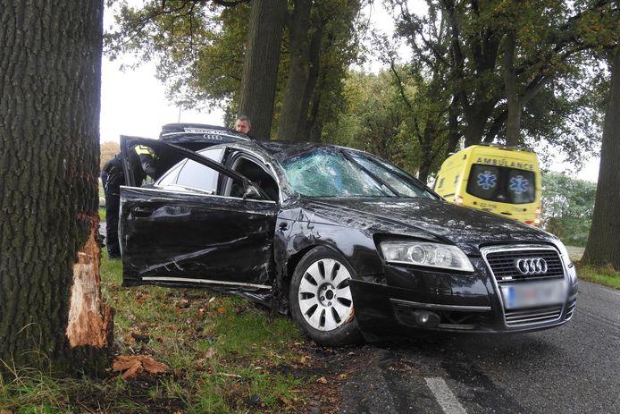 Ongeval aan de Oude Kerkstraat bij Veldhoven.