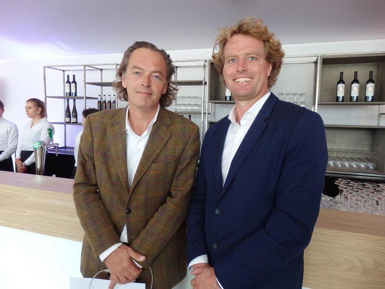 Paul Meulemans (Museumplein Polo): 'Dat is ook belangrijk: aan alle kanten verbinden.' Met organisator van de carrièrebeurs Martijn Jansen (Memory Group) Beeld Hans van der Beek