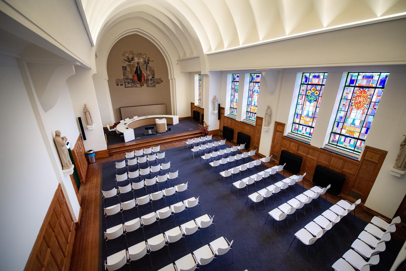 De kapel van het Berchmanianum wordt nu gebruikt voor academische plechtigheden.