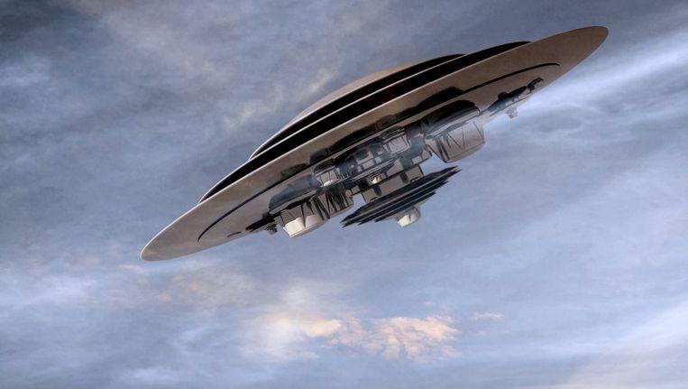 Een computerbeeld van een ufo.