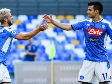 Mertens leidt Napoli langs Sampdoria bij basisdebuut Lozano