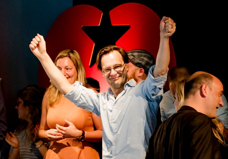 Ronald van Raak, Kamerlid voor de SP, tijdens de partijraad van de SP in Amersfoort in 2017. Beeld ANP