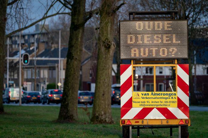 De milieuzone in de Arnhemse binnenstad.