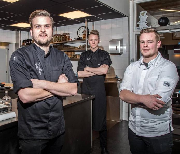 Jan Smink, Lars Aukema en Sander Verhaaf (vlnr) vertegenwoordigen Nederland bij de Bocuse d'Or. Foto Frans Paalman