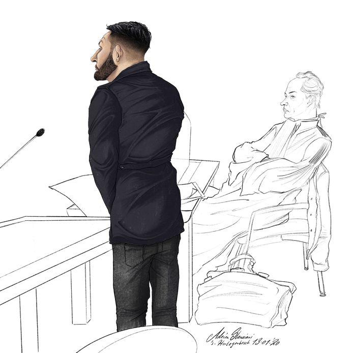 Tijdens de rechtszaak twee weken geleden stond de verdachte op om zijn excuses te maken aan de mensen die gewond raakten toen hij in het wilde weg schoot.