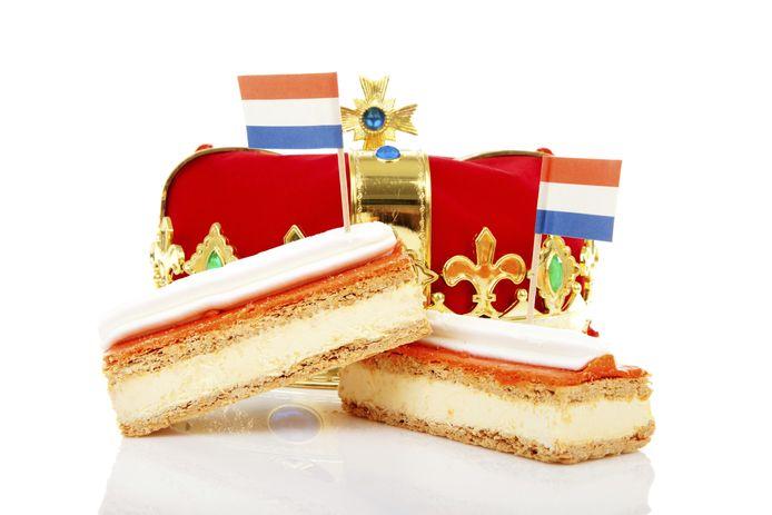 koningsdag tompouce oranje stockfoto