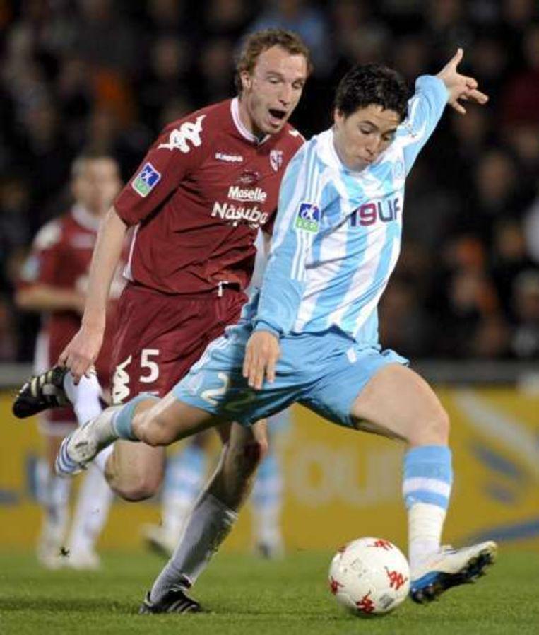 Samir Nasri (rechts) als speler van Marseille