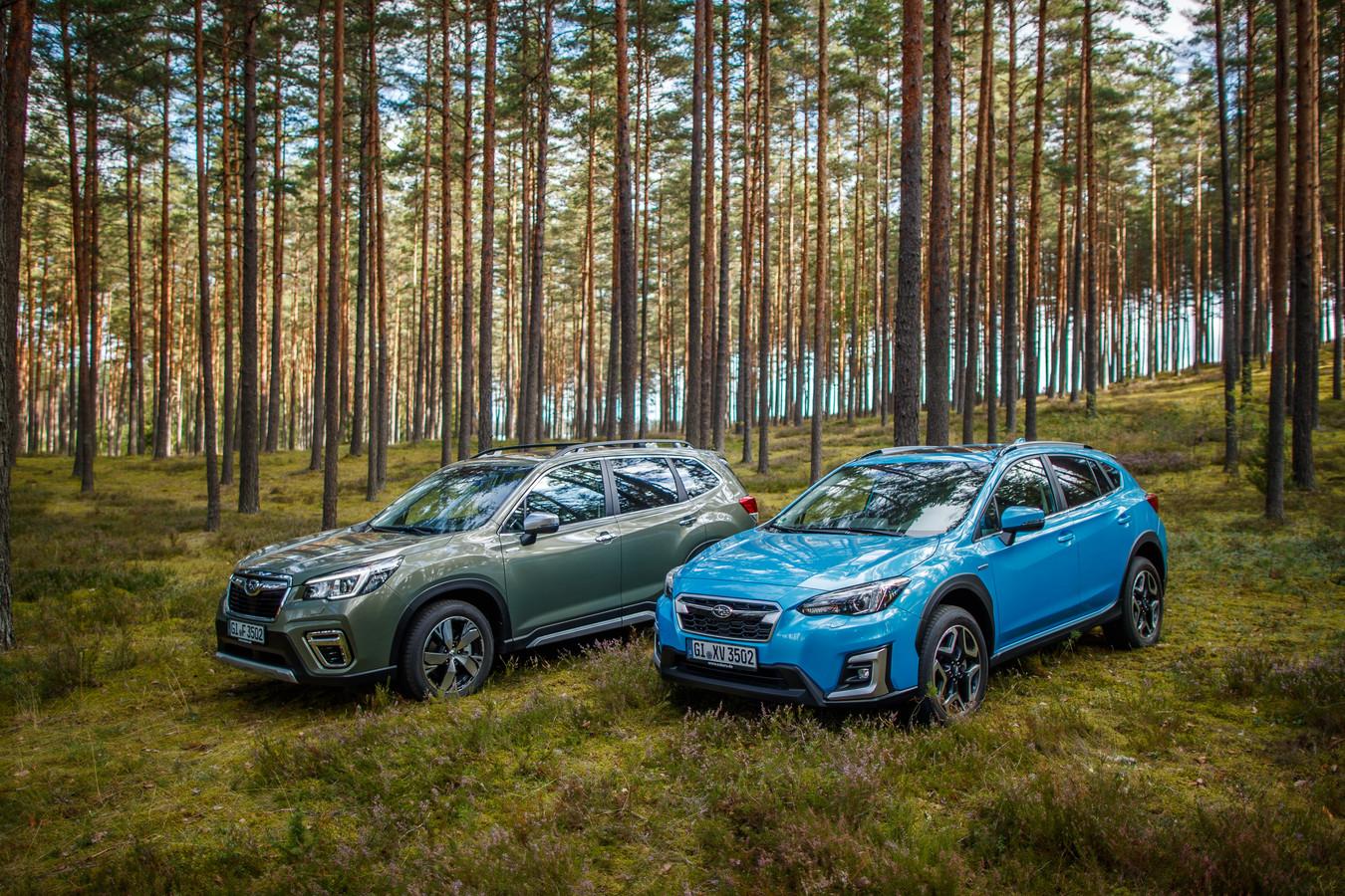 Subaru Forester en XV met hybride aandrijving.