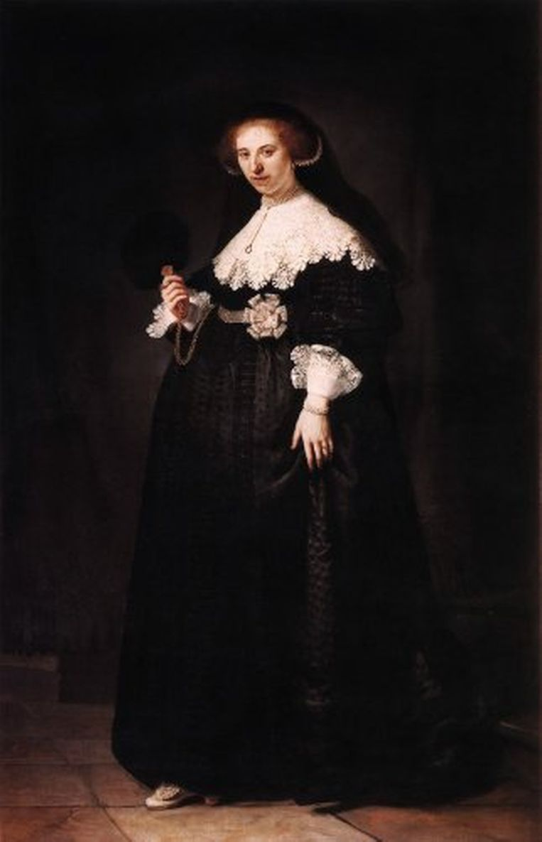 Het bijbehorende portret van Oopjen Coppit. Beeld .