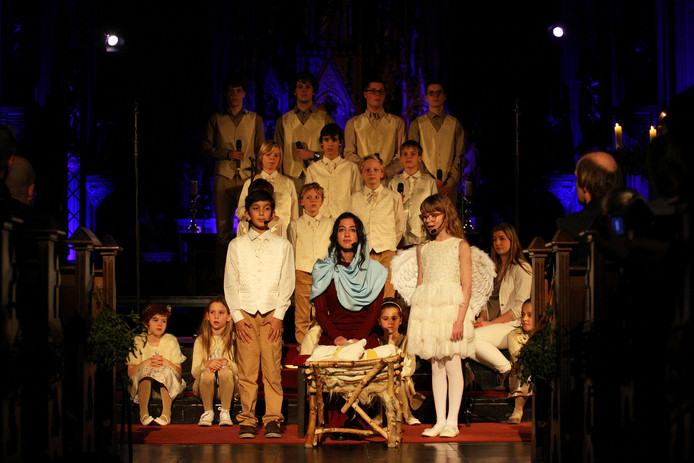 Het Kerstverhaal in de Grote Kerk tijdens Winterland Oss 2015.