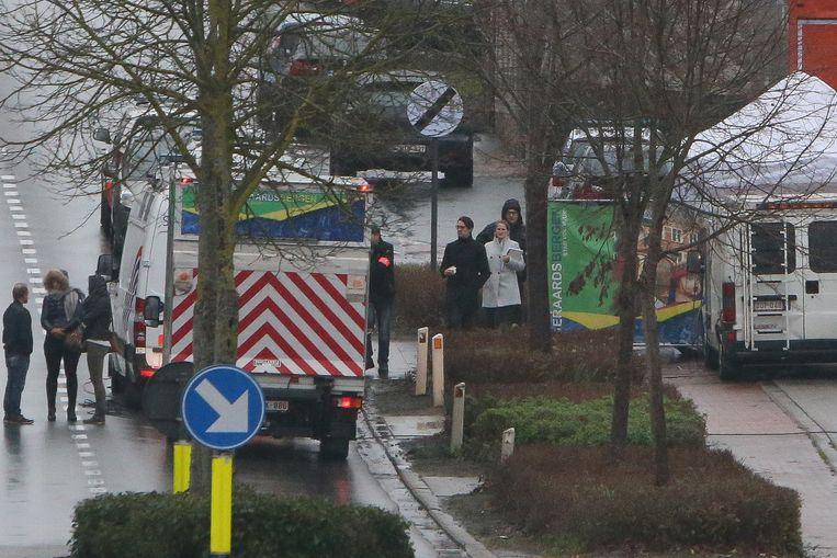 De reconstructie van de moord gebeurde gisteren in Ophasselt.