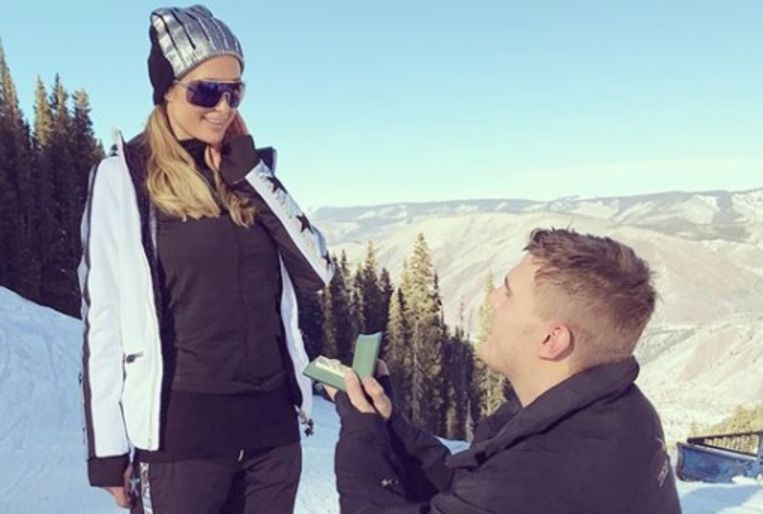 Paris Hilton en haar verloofde Chris Zylka.