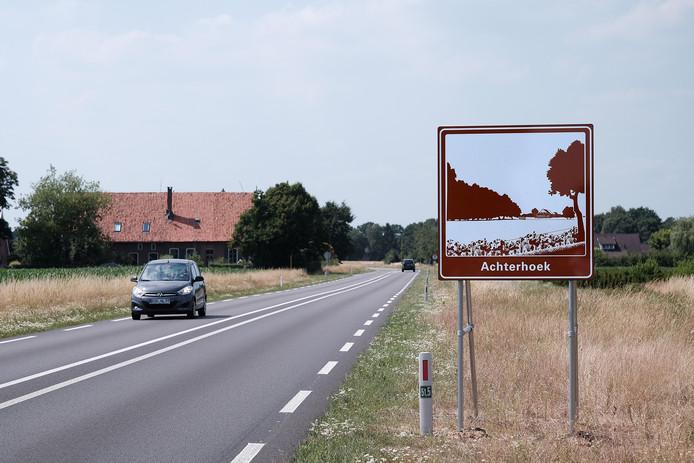 De grensovergang aan de Kottenseweg in Winterswijk vlakbij het dorp Oeding.
