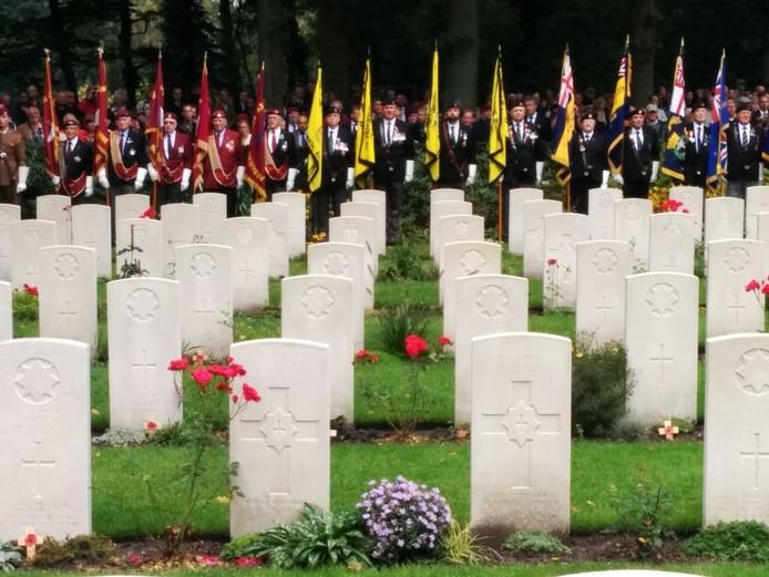 OOSTERBEEK, 21-09-2014 - De herdenking op de Airborne Begraafplaats in Oosterbeek.