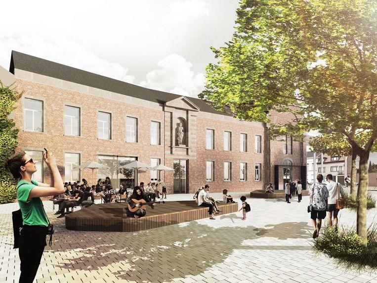 De nieuwe bibliotheek zal worden ondergebracht in het oude klooster.