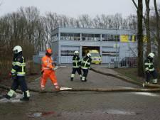 Omgevallen boom blokkeert uitrit ambulance Beuningen