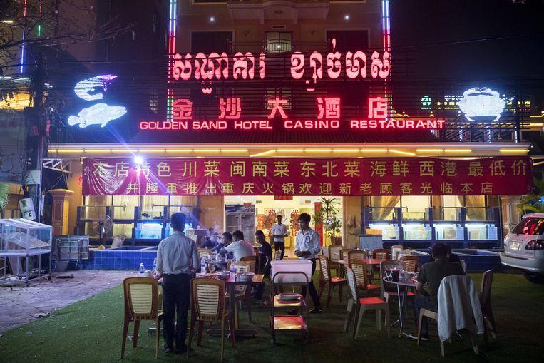 Een casino in Sihanoukville. Beeld Bloomberg via Getty Images
