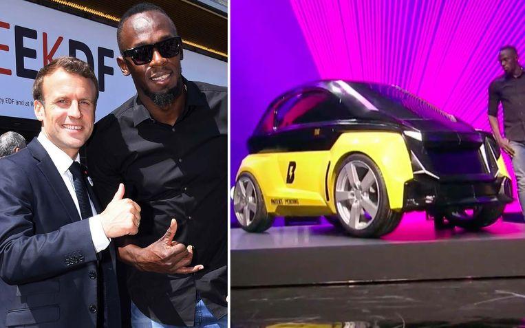Bolt stelde zijn elektrische stadswagen en deelsteps voor in Parijs. President Emmanuel Macron kwam hem steunen.