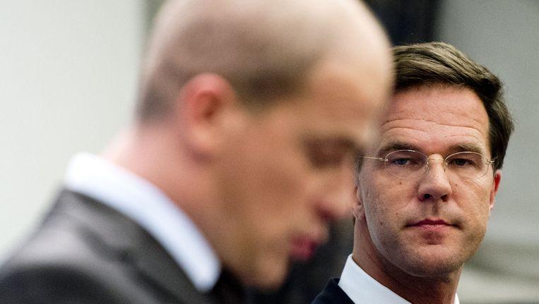 PvdA-leider Diederik Samsom en premier Mark Rutte Beeld anp