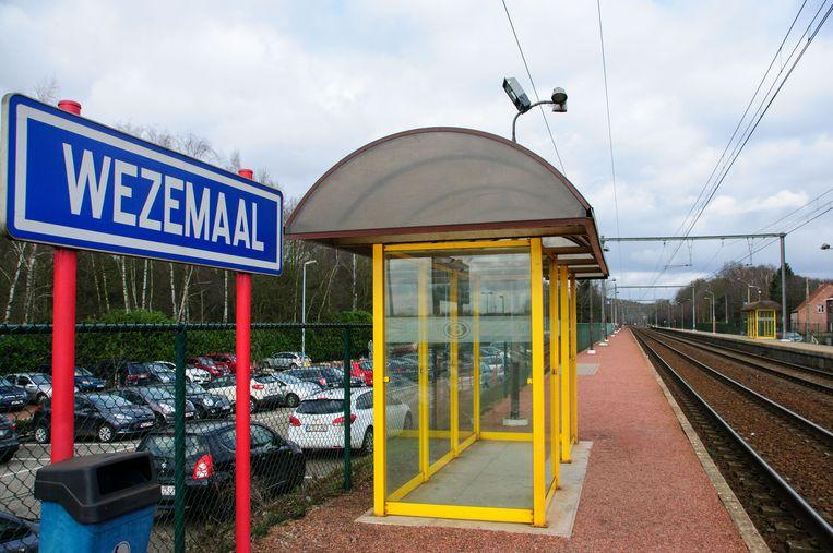 De treinstopplaats van Wezemaal
