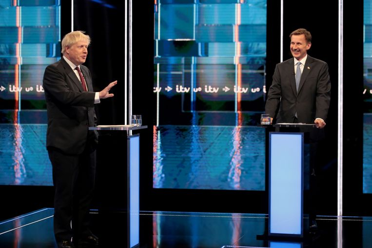 Boris Johnson (L) en Jeremy Hunt (R) doen beiden een gooi naar het leiderschap van de Tories, alsook het premierschap.