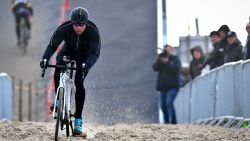 Sven Nys scheurde vandaag door het zand in Oostende