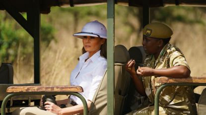 Melania Trump krijgt kritiek voor haar witte helm, en wel hierom