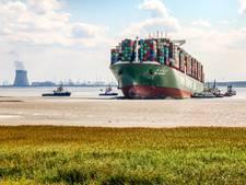Bij Bath vastgelopen schip naar Rotterdam