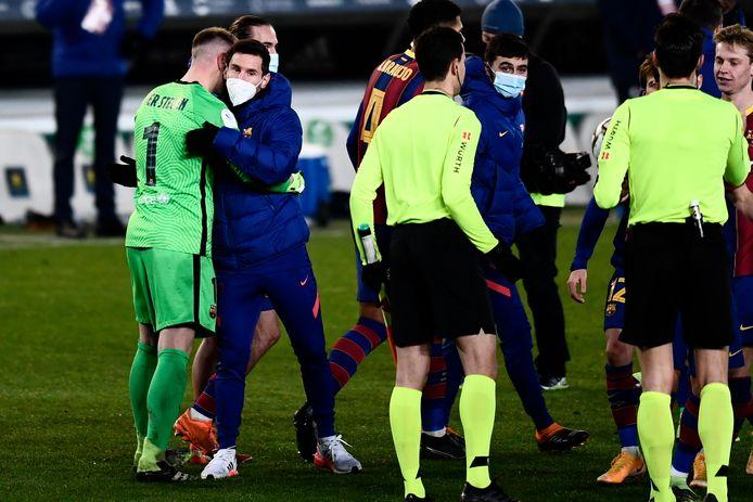 Lionel Messi kwam gisteren niet in actie bij Barcelona.