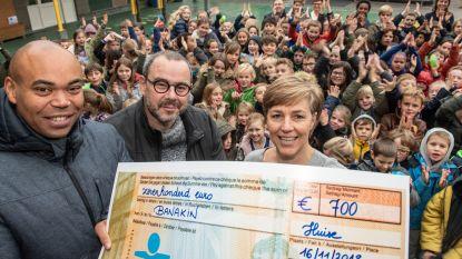 Hongermaal van Vrije Basisschool van Huise levert  700 euro op voor Banakin