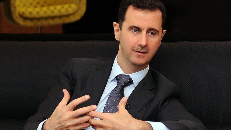 De Syrische president Al-Assad op een foto die gisteren werd verspreid. Beeld EPA