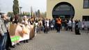 Een demonstratie van Animal Rights, niet bij het Bossche bedrijf.