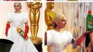 Hilarisch: Twitter heerlijk creatief met outfit van Lady Gaga op de Oscars