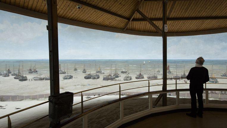 Het beroemdste schilderij van Mesdag is het panorama van het strand van Scheveningen. Beeld anp