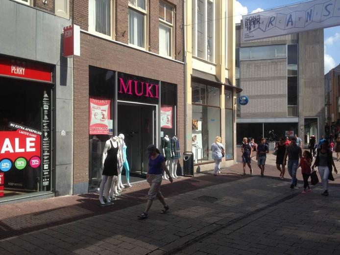 De winkel van Muki in het stadshart van Arnhem. Foto DG